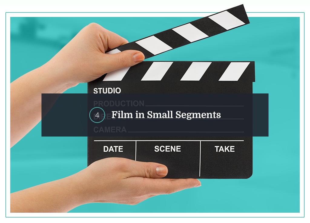 film in small segments