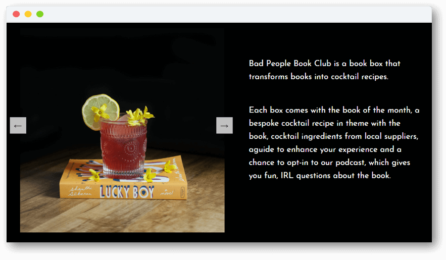 Bad people book club subscription model