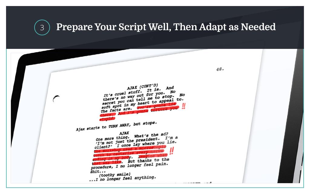 prepare your script