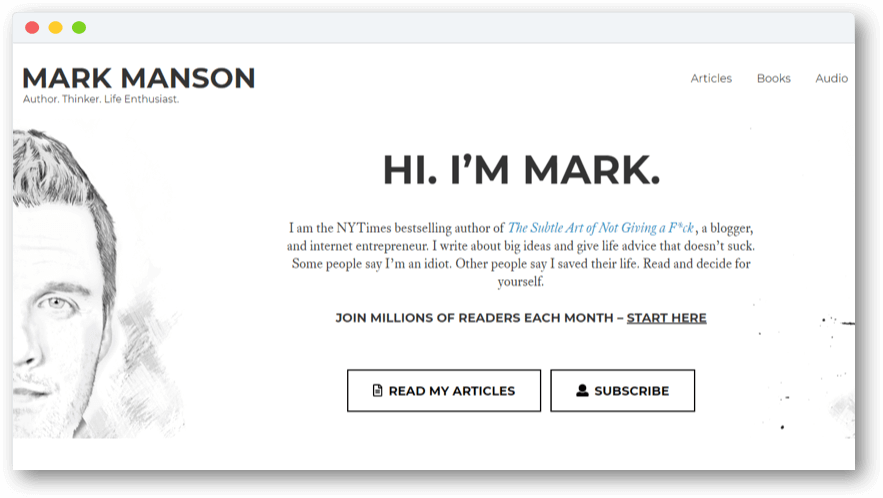 Mark Manson subscription model