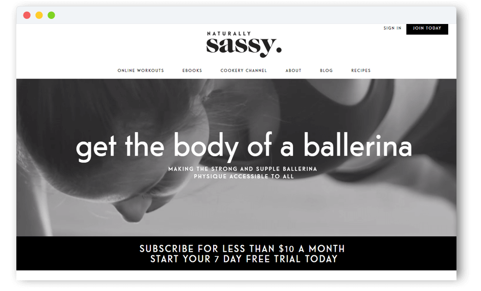 Naturally Sassy Subscription Model