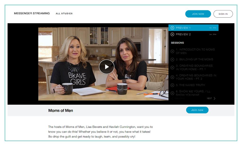 Video program page