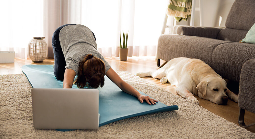 Practicing Yoga at home using online Yoga classes