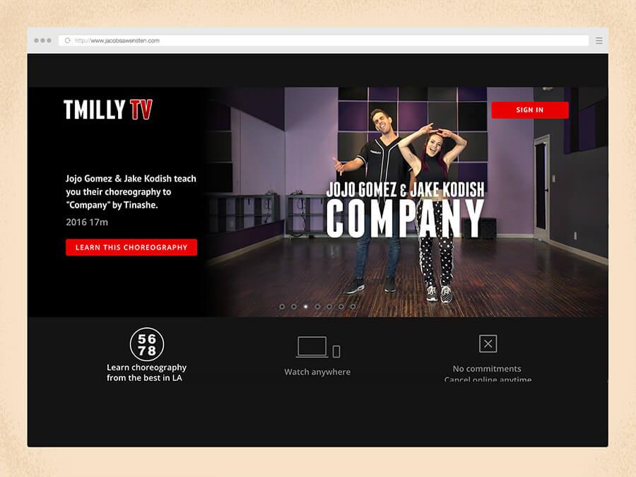 TMilly's SVOD platform