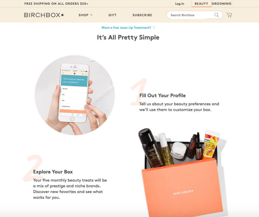 BirchBox subscription package
