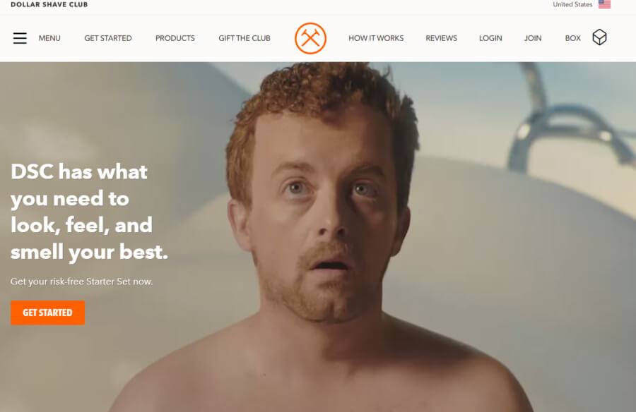 Dollar Shave Club site