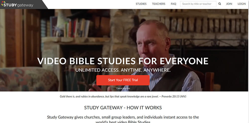 Study Gateway Website