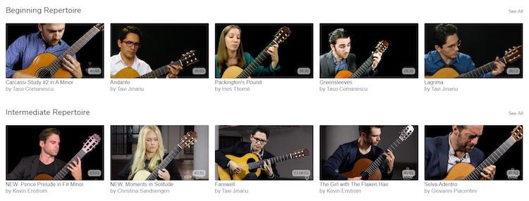 Elite Guitarist video subscription catalog