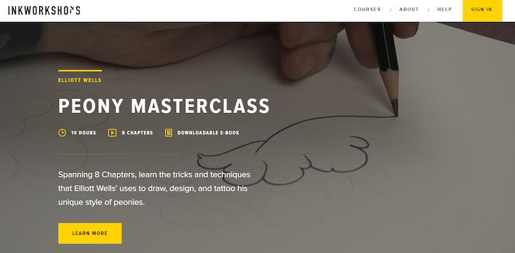Ink Workshops video subscription homepage