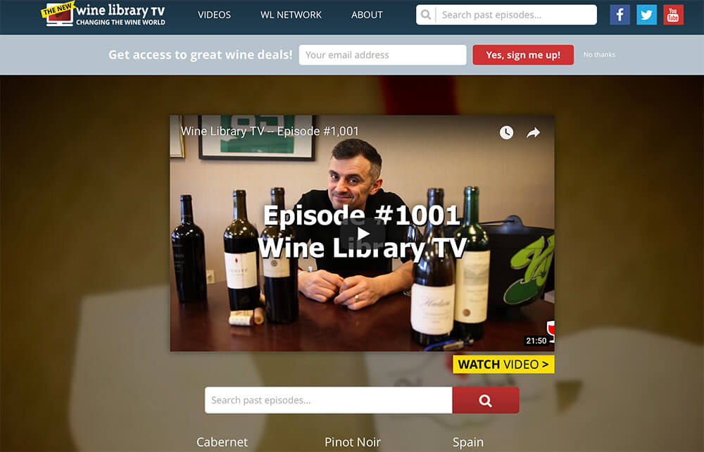 Gary Vaynerchuk WineLibrary TV Website Domain