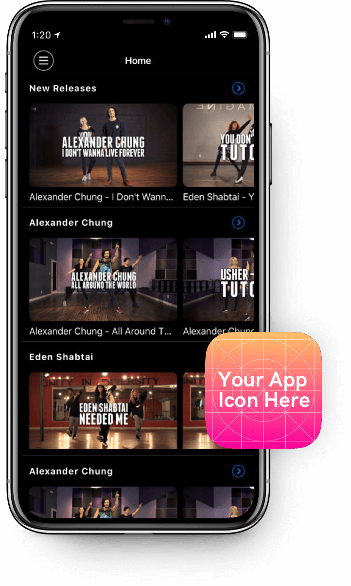 Your own branded OTT app on iPhone