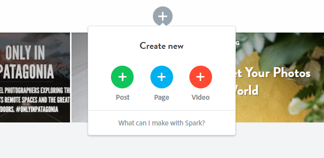 Create new spark video