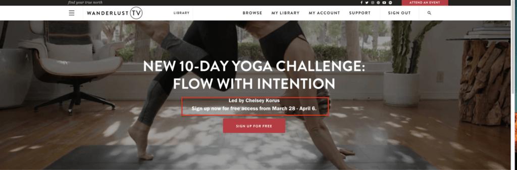10 Day Yoga Challenge