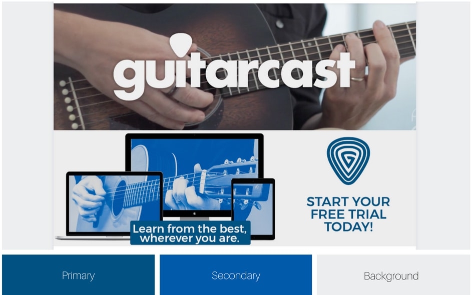 guitarcast's visual branding