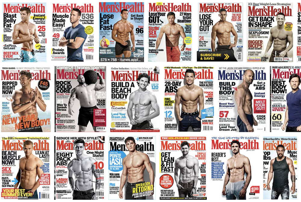 men's health magazines covers