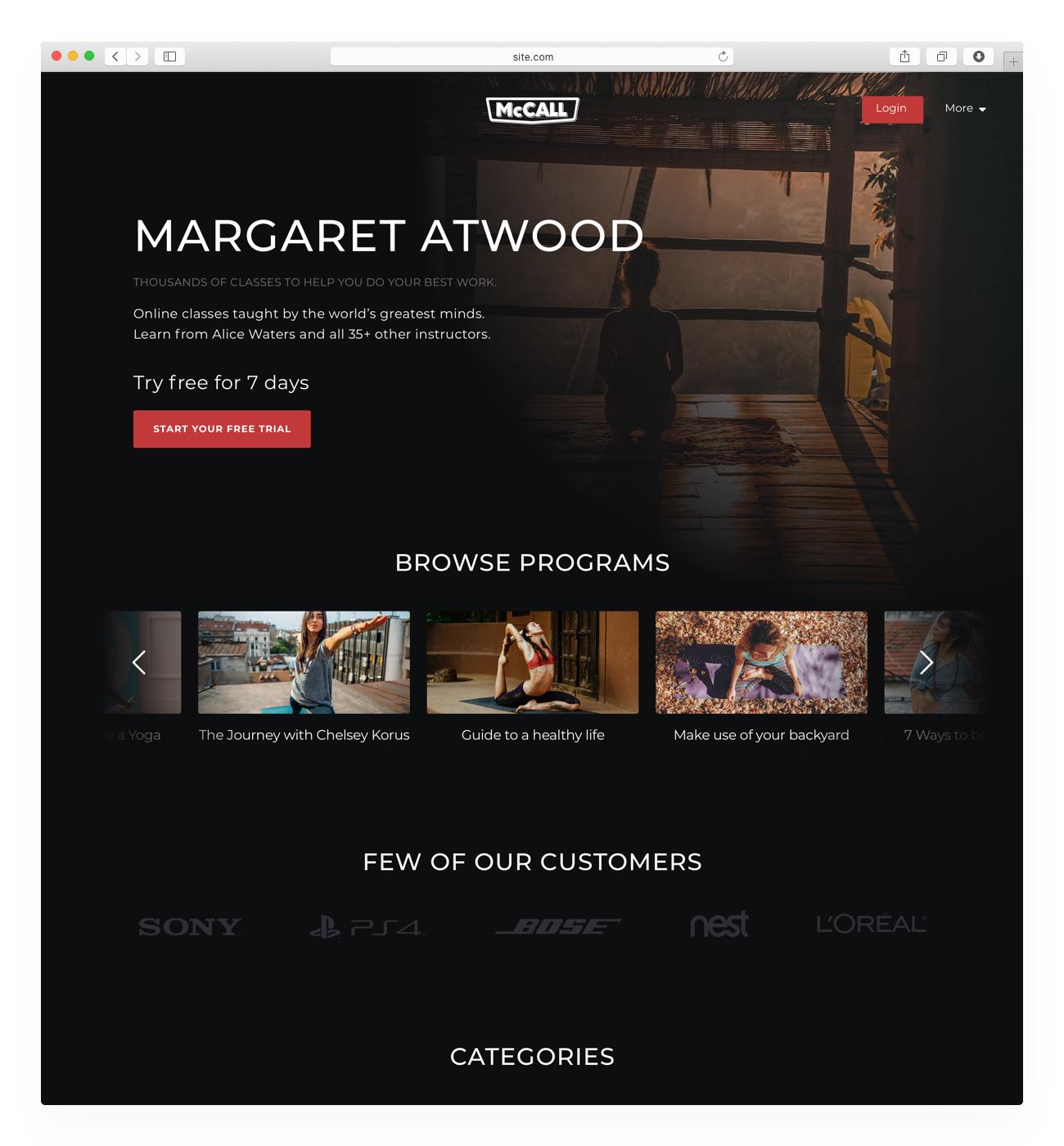 Video Website Template - Uscreen Phoenix