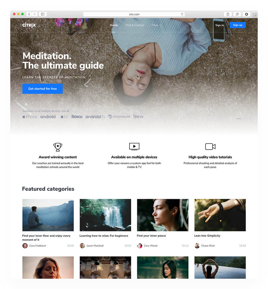 Summer triangle website template
