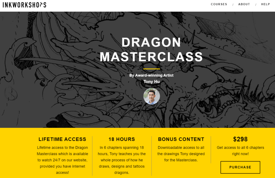 Inkworkshop dragon masterclass