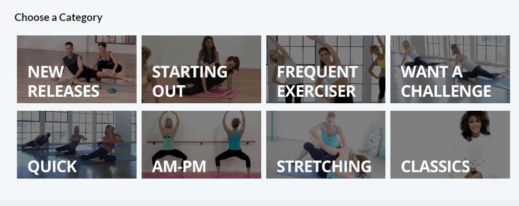 Fitness catalog