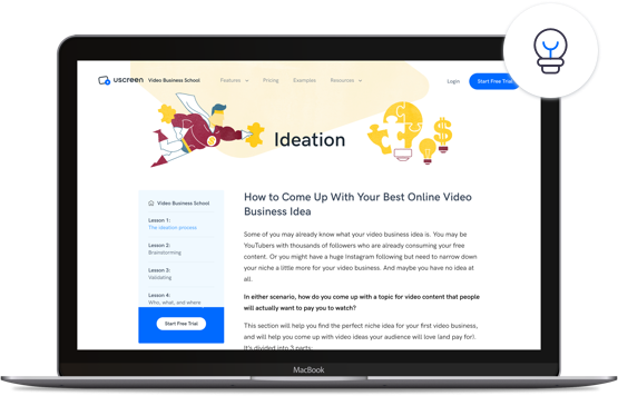 Uscreen's video business school