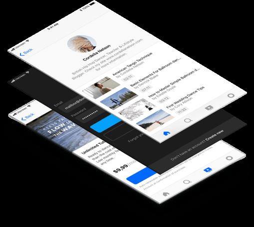 OTT Video Streaming App Interface