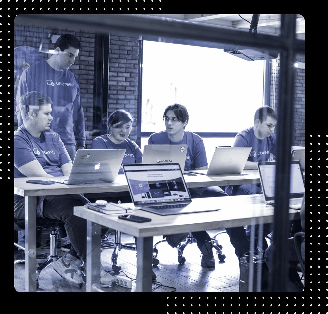 Uscreen team at work