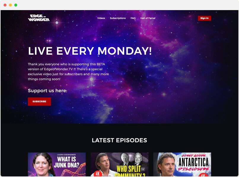 Edge of Wonder Video Service