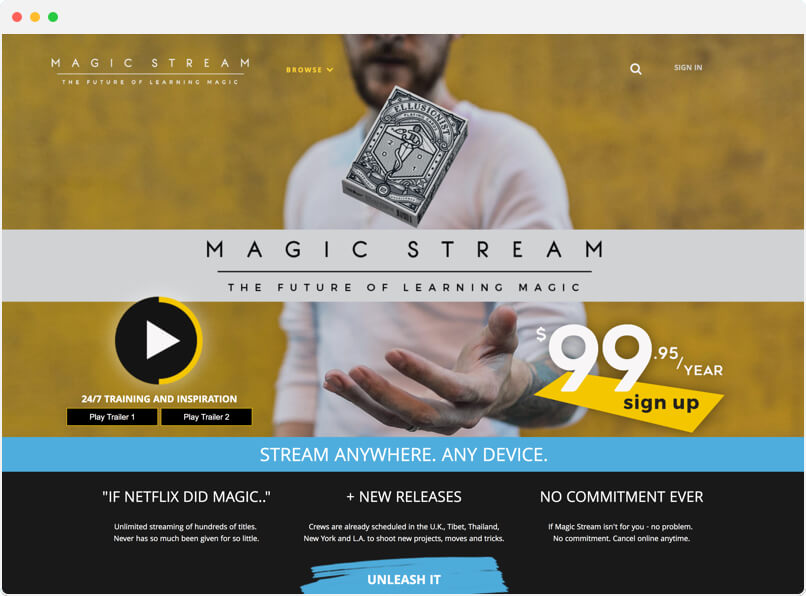 Magic Stream OTT Video Platform