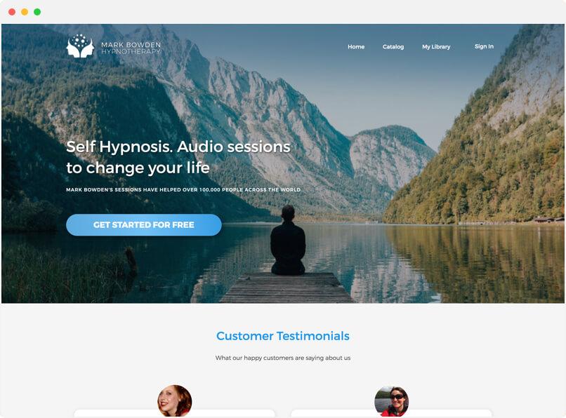 Mark Bowden Hypnotherapy Online Video platform