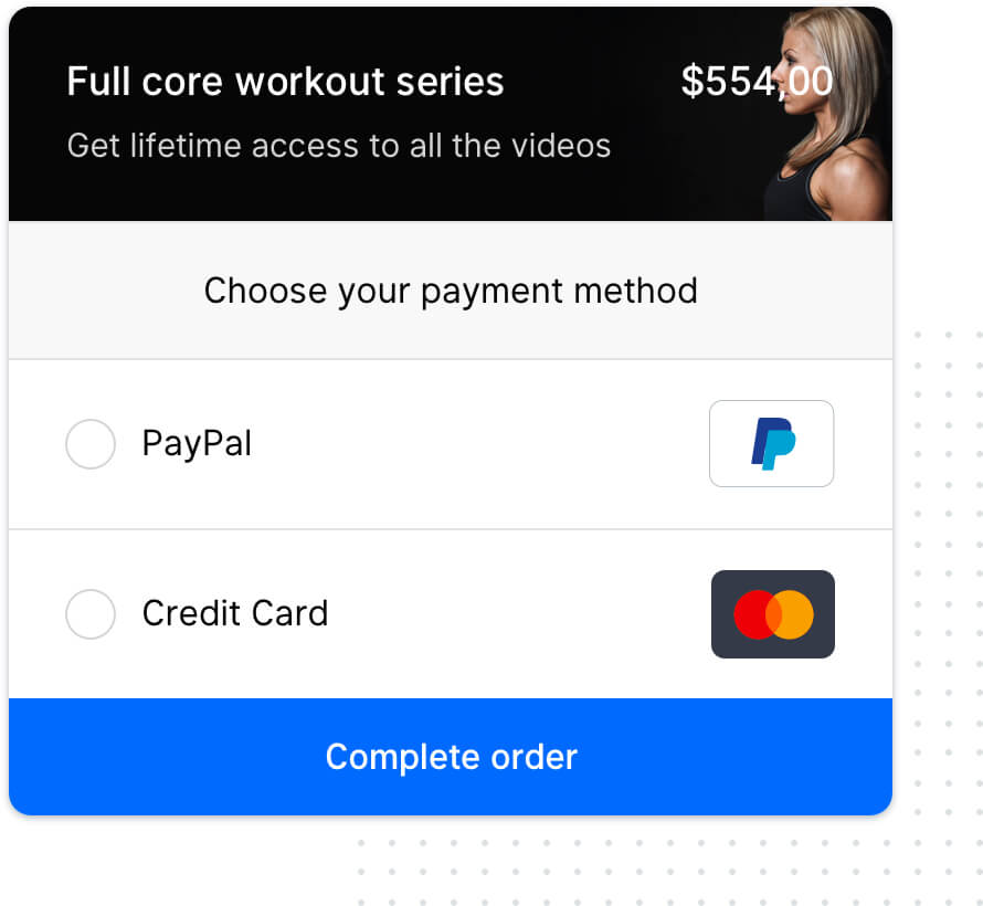 secured checkout and payment data transfer