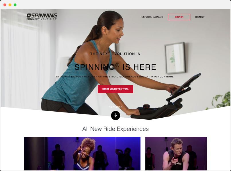 SpinTV website preview