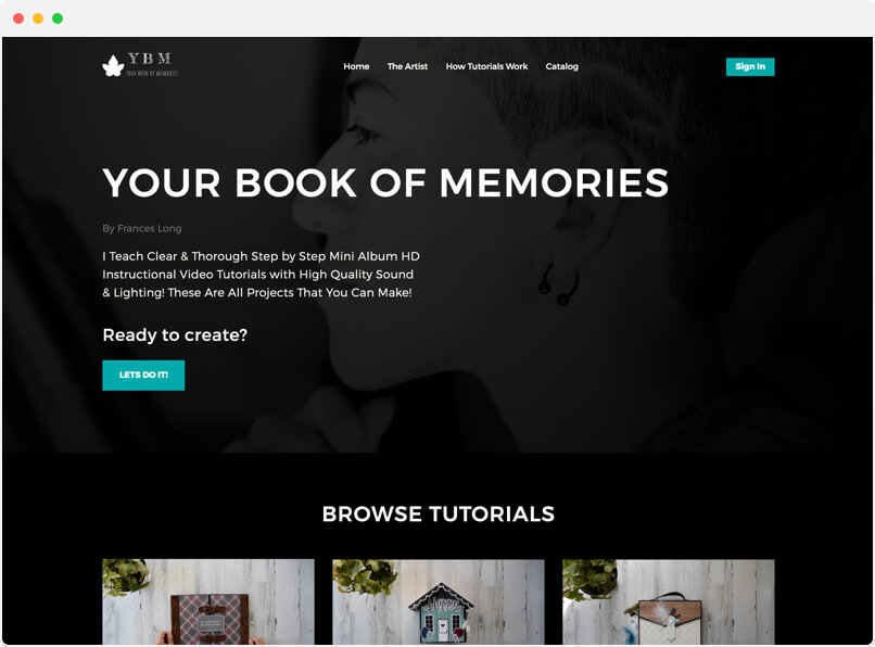 Your Book Of Memories Streaming Platform