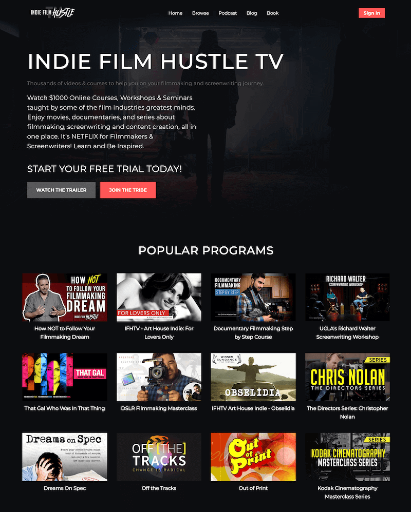 Indie film hustle - ott example