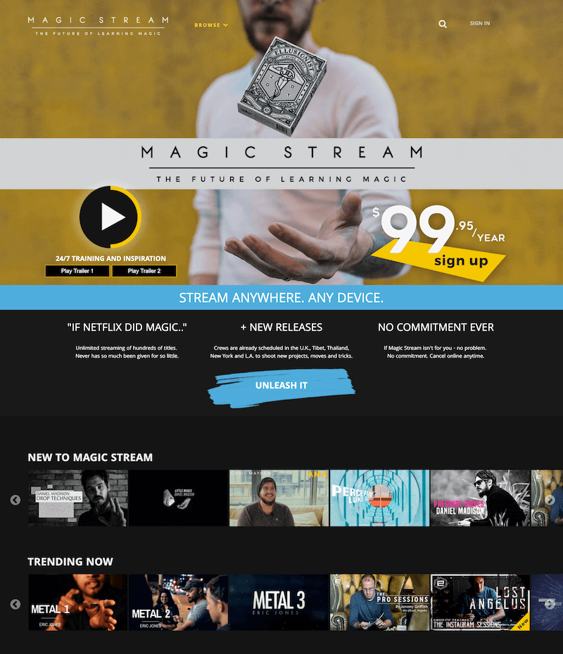 Magicstream - ott example