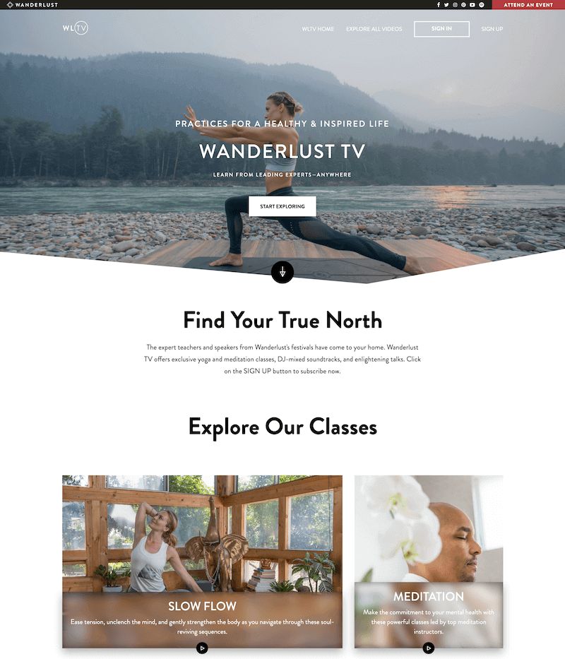 Wanderlust TV - ott example