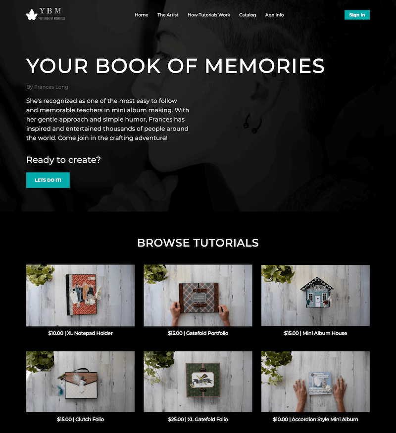 Your Book of Memories - ott examples