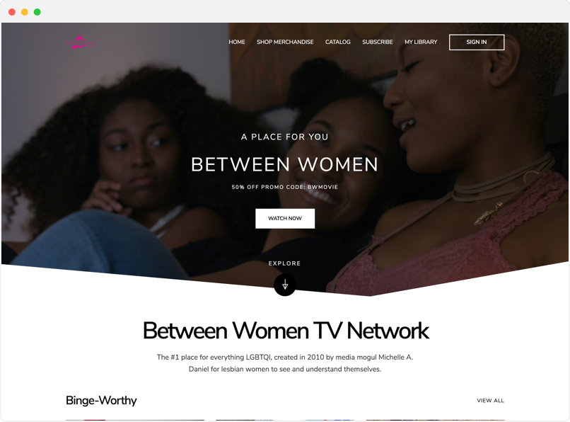 between women tv