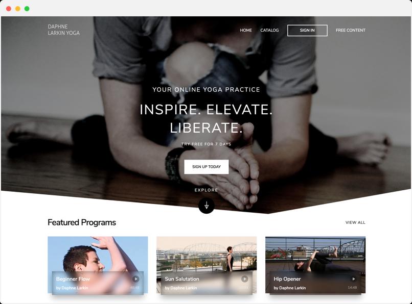 Daphne Larkin Yoga website