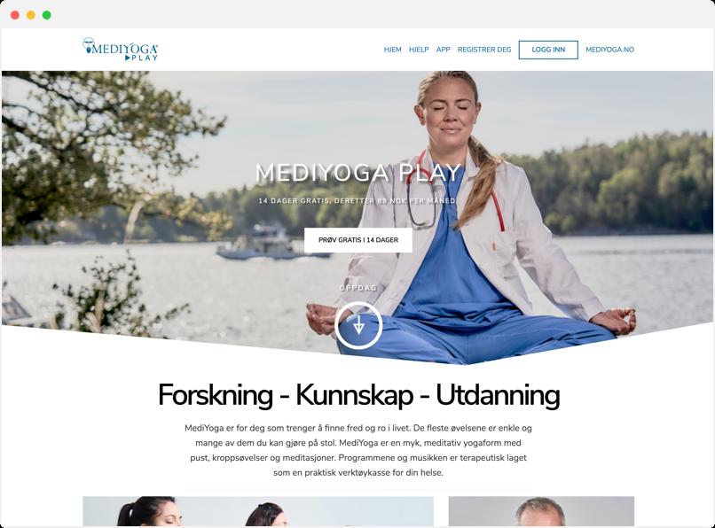 mediyoga website