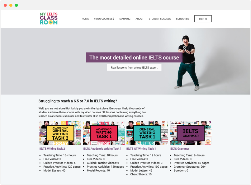 My IELTS Clasroom website