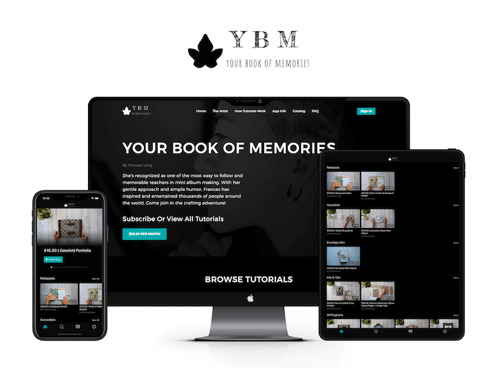 Your book of memories video streaming platform on all devices