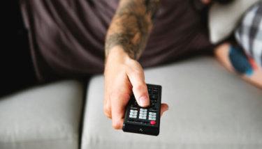 OTT TV - man watching TV on OTT