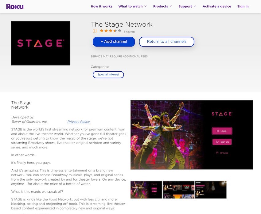 Stage Network Roku