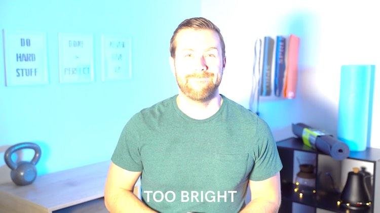 video lighting - too bright