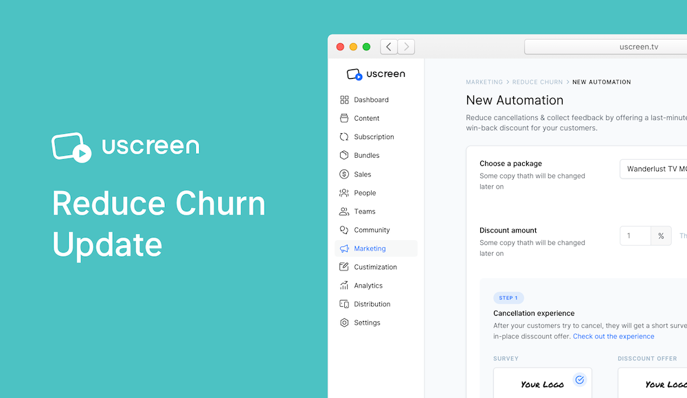 Uscreen reduce churn update