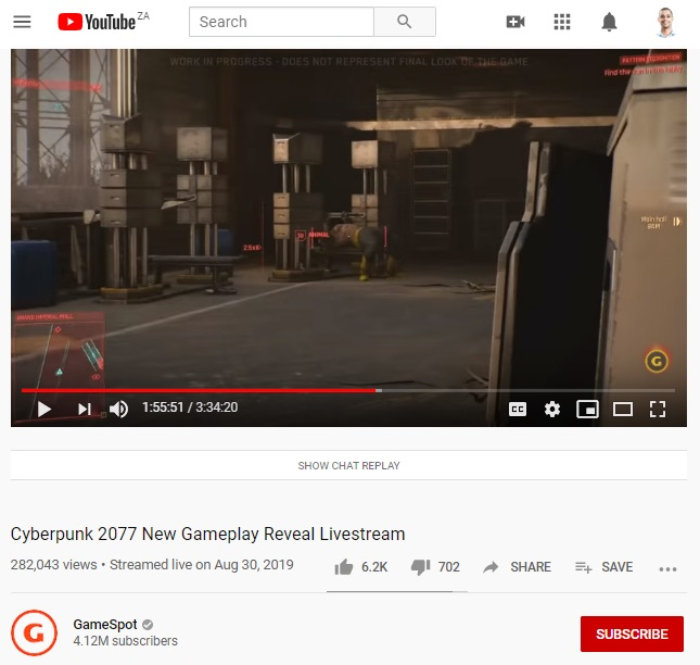 Cyberpunk gameplay reveal live stream
