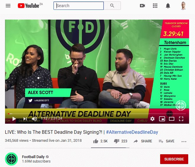 Deadline day signing live stream