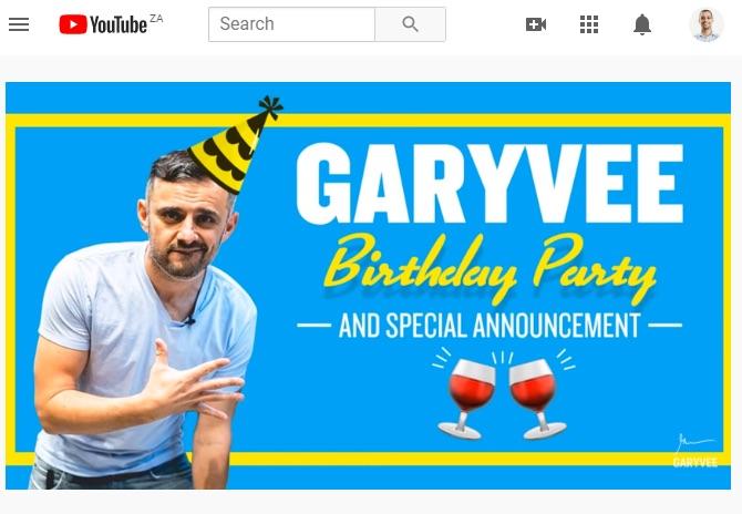 Garyvee birthday party live stream