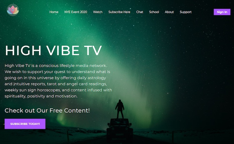 High Vibe TV - live streaming website