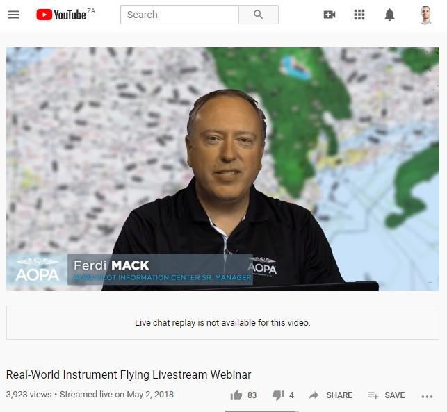 Instrument flying live stream webinar